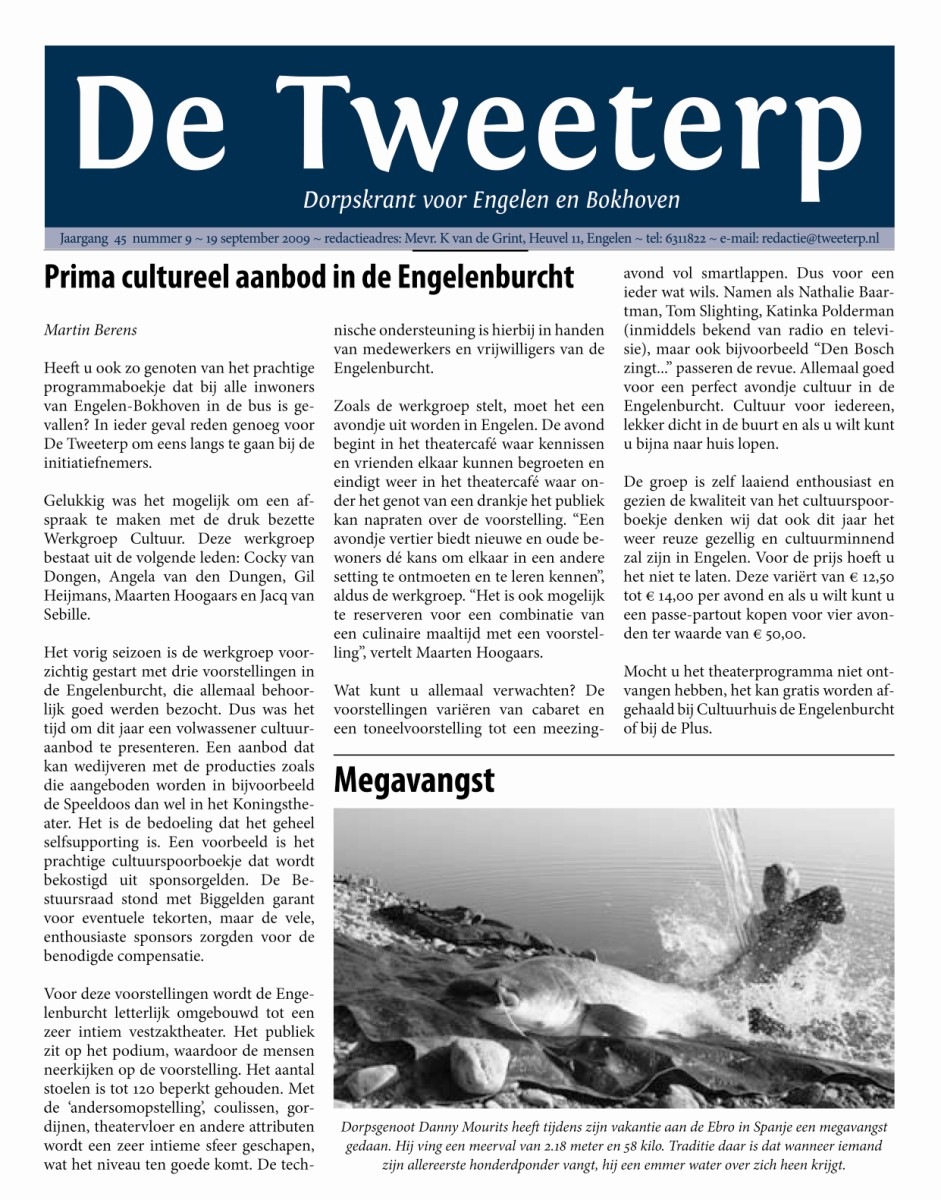 krantenartikel in Tweeterp